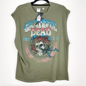 Junk Food Grateful Dead Band Muscle Tee NWT